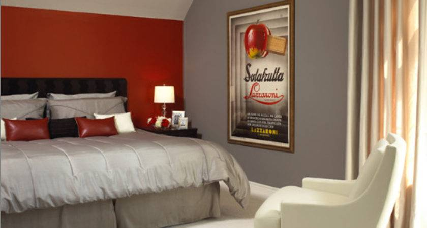 Red Grey Bedroom Ideas Barb Homes