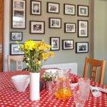 Red Grey Dining Room Decorating