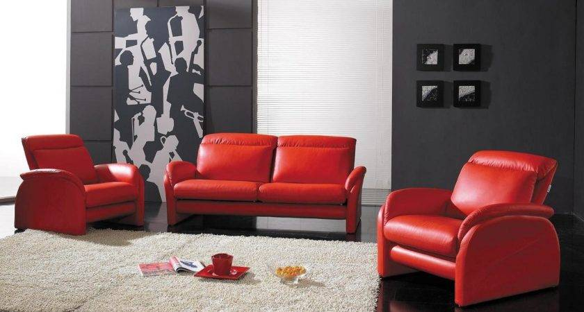 Red Leather Couch Living Room Ideas Amazing