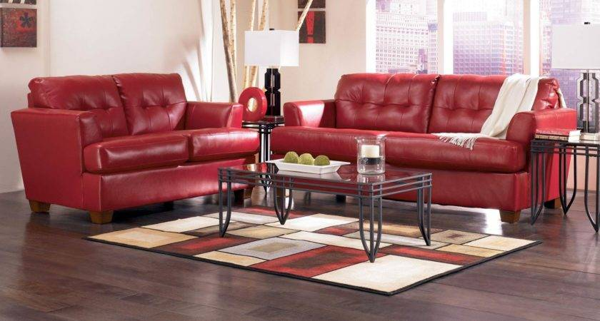 Red Leather Living Room Furniture Lovely