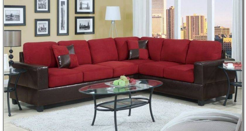 Red Leather Sofa Living Room Design Best