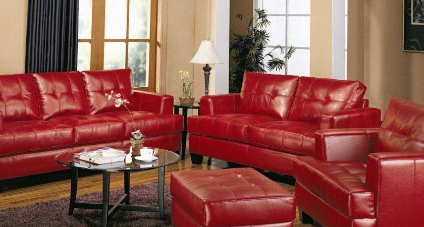 Red Leather Sofa Living Room Ideas Amazing