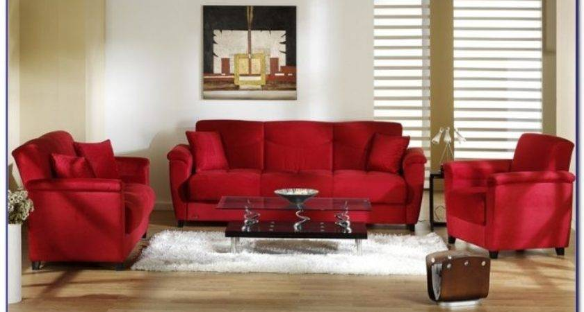 Red Leather Sofa Living Room Ideas Home