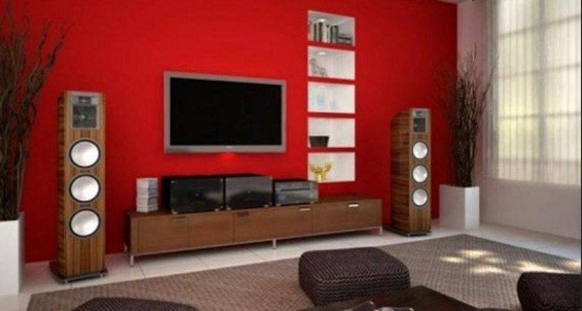 Red Living Room Ideas White Color Home Interiors