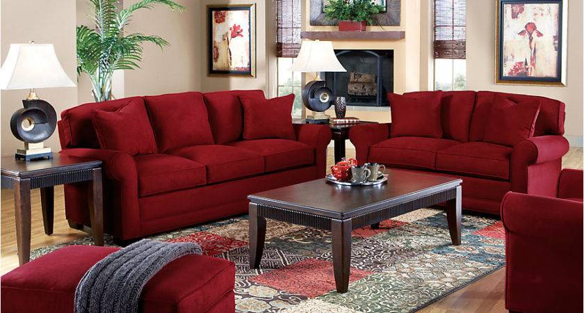 Red Living Room Sofa Set Ikea Decora