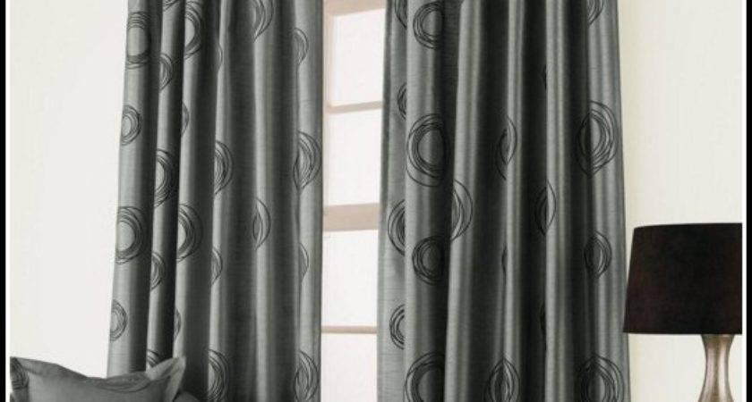 Red Silver Black Curtains Home Design
