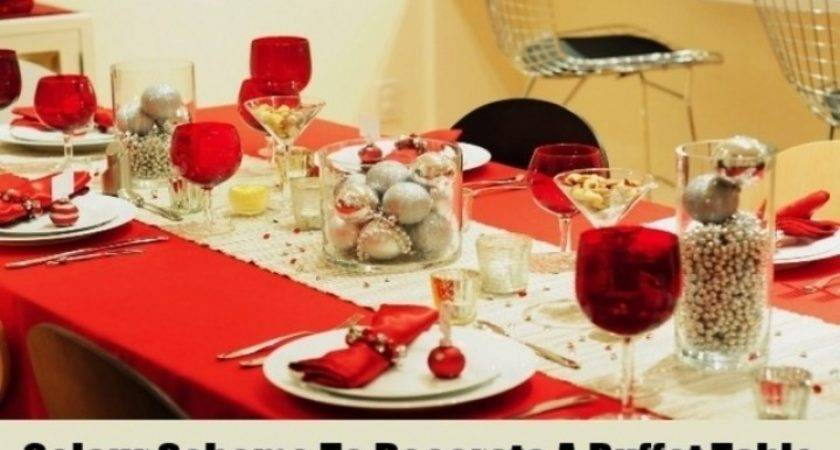 Red Silver Christmas Table Decorations Designcorner