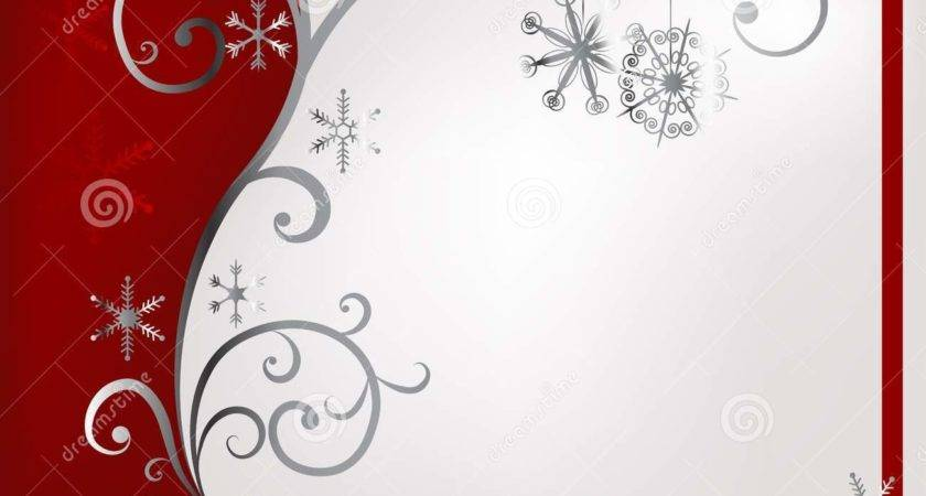Red Silver Christmas Vector Decoration