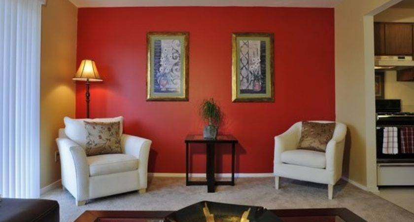 Red Wall Living Room Ideas Home Garden