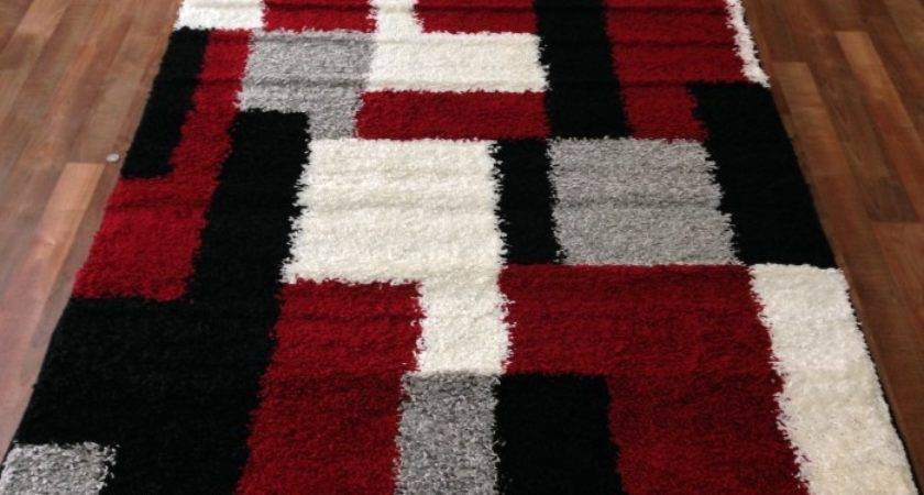 Red White Area Rugs Roselawnlutheran