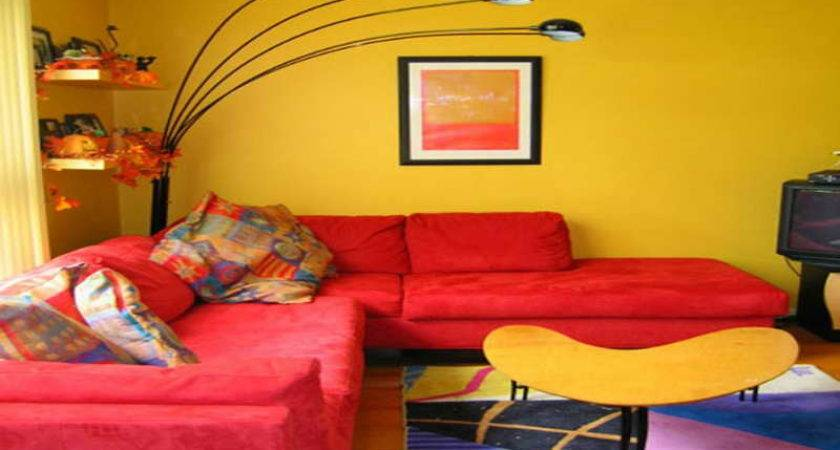 Red Yellow Living Room Ideas Home Decor