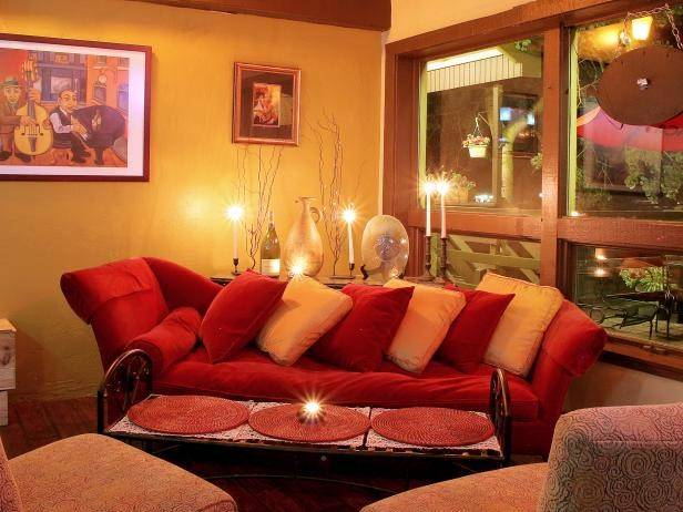 Inspiration Yellow And Red Living Room