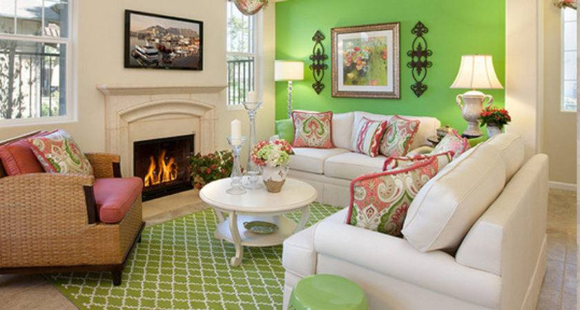 Refreshing Green Themed Living Rooms Decoration House