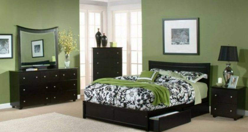Relaxing Paint Colors Bedrooms Green Wall