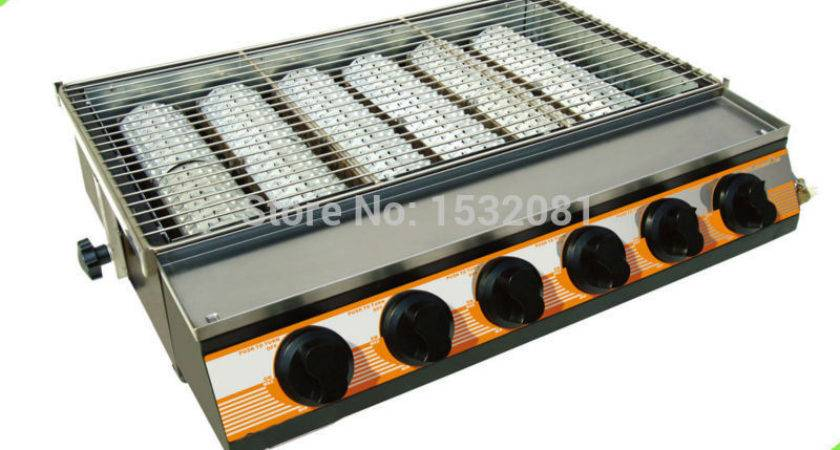 Restaurant Professional Lava Rock Gas Barbeque Grill