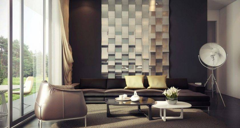 Rich Palette Living Mirrored Feature Wall Interior