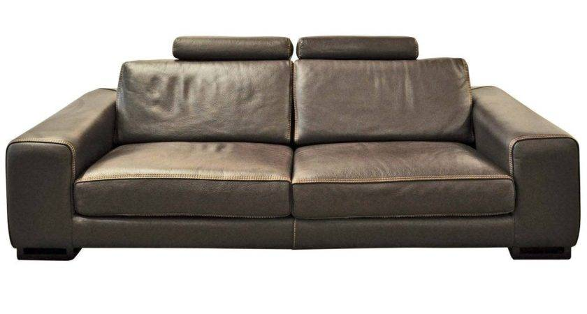 Roche Bobois Chocolat Upholstered Leather Sofa Stdibs