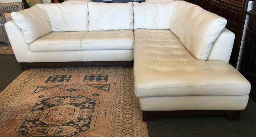 Roche Bobois Ivory Leather Serenite Sectional Chairish