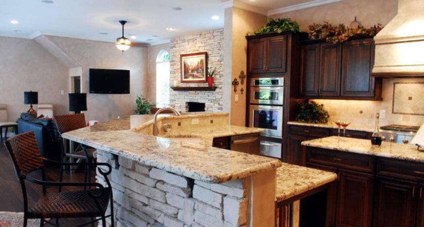 Room Kitchen Brought Together Traditional