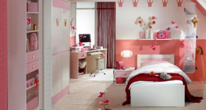 Rose Wood Furniture Girls Pink Bedroom