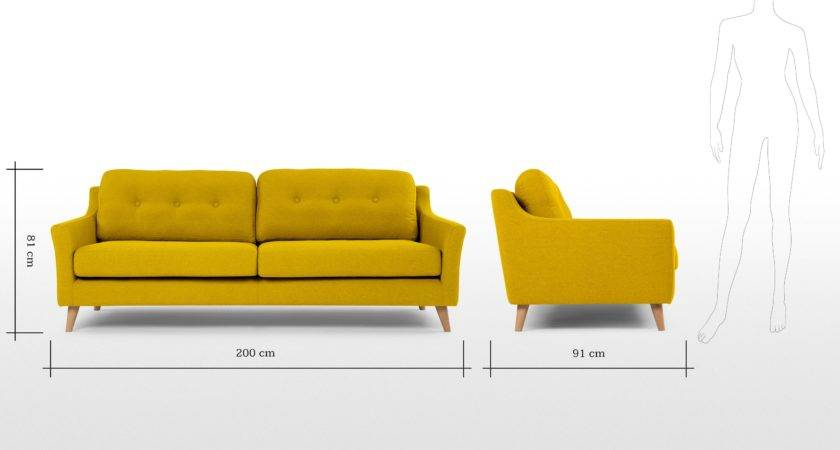 Rufus Seater Sofa Mustard Yellow Made