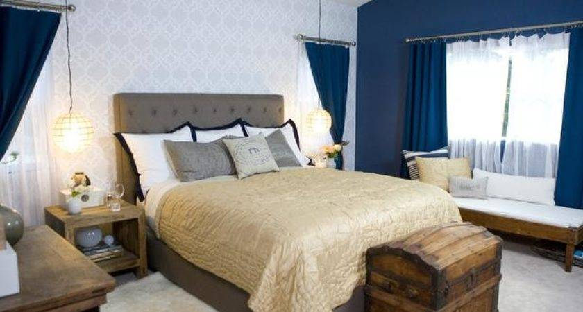Rustic Accents Navy White Bedroom Hgtv