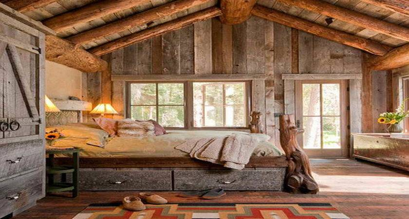 Rustic Bedding Ideas Decorating Log Cabin Rooms