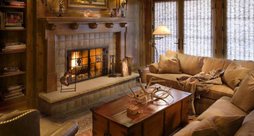 Rustic Chic Decorchic Details Cozy Living Room