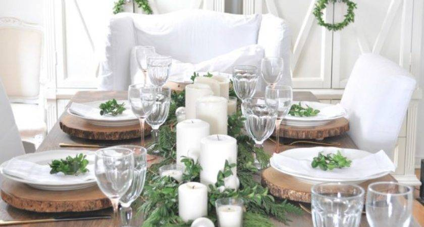 Rustic Christmas Table Setting Kim Power Style