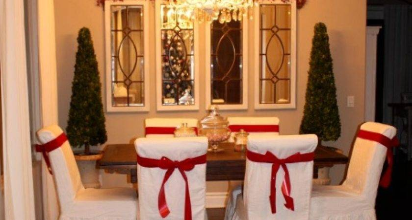 Rustic Christmas Table Settings Holiday Chair Cover