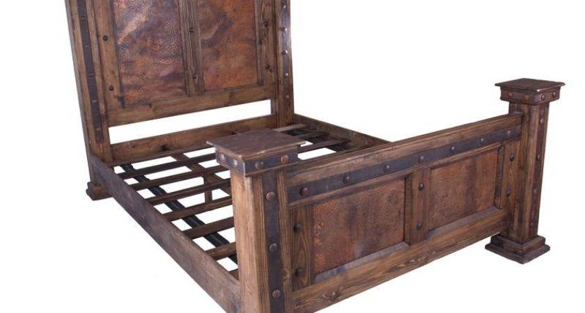 Rustic Copper King Bed