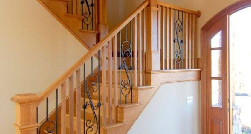 Rustic Lake Front House Wood Wrought Iron Railings