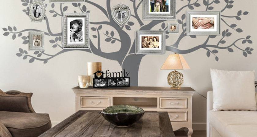 Rustic Living Room Tree Wall Decor
