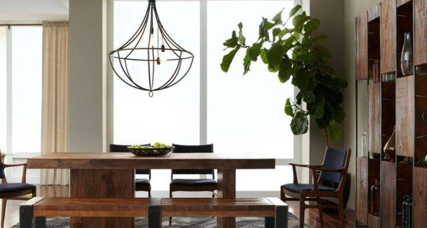 Rustic Modern Dining Room Eclectic