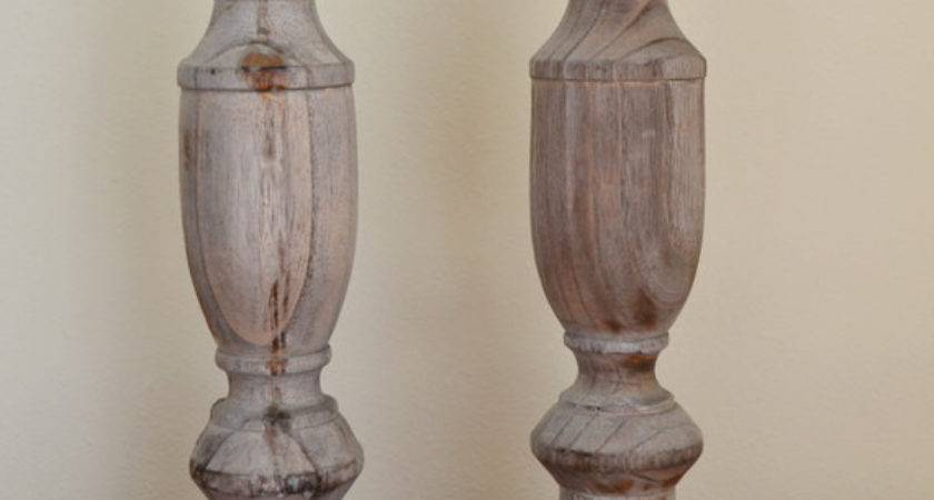 Rustic Vintage Driftwood Pillar Candle Holders