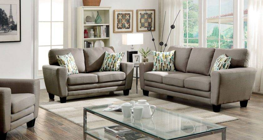 Saffron Gray Living Room Set Furniture