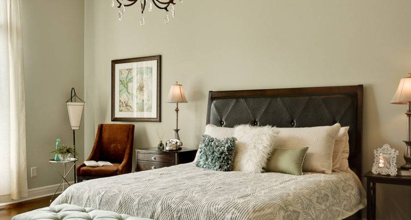 Sage Green Brown Bedroom Decosee