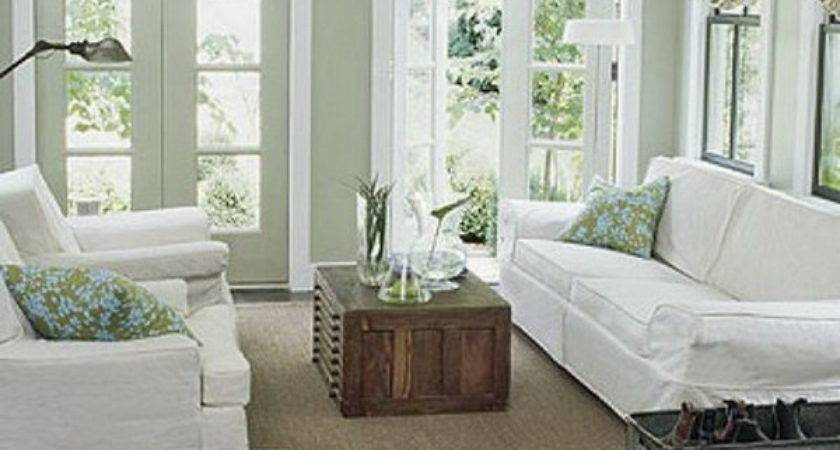 Sage Green White Living Room