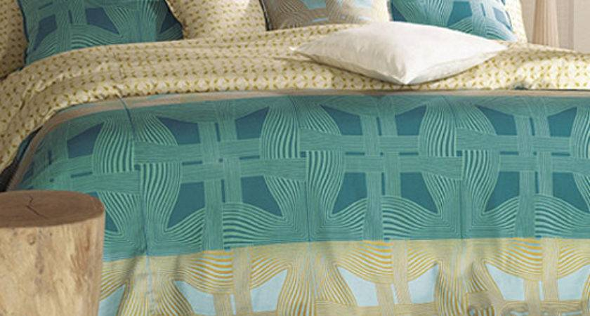 Sateen Teal Gold Geometric Queen Duvet Cover Set