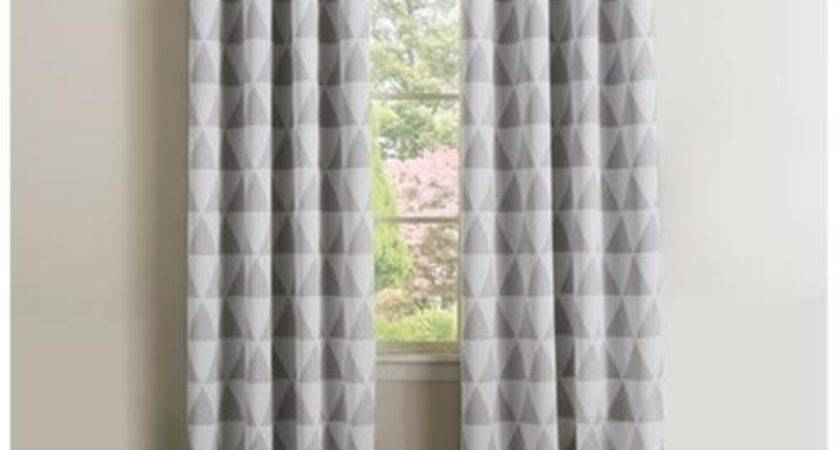 Scandinavian Curtain Panel Set Gray Rakuten
