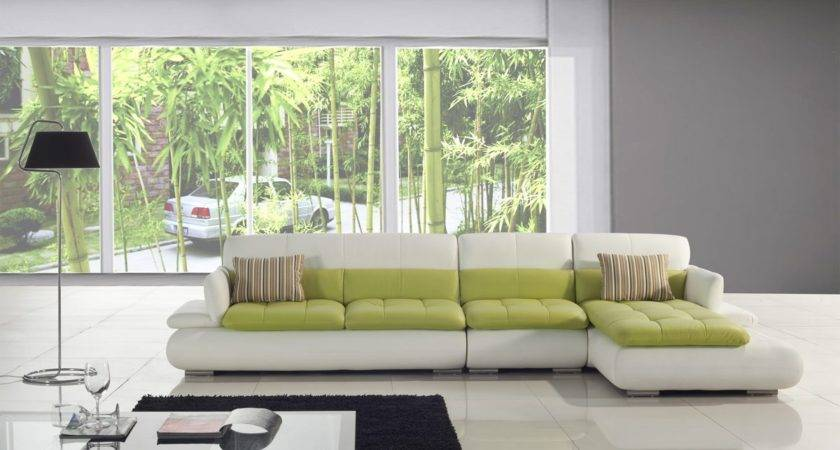 Sectional Sofa Design Amazing Green Leather