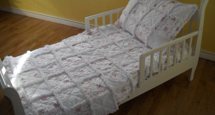 Shabby Chic Roses Toddler Bedding Set Boutique Rag