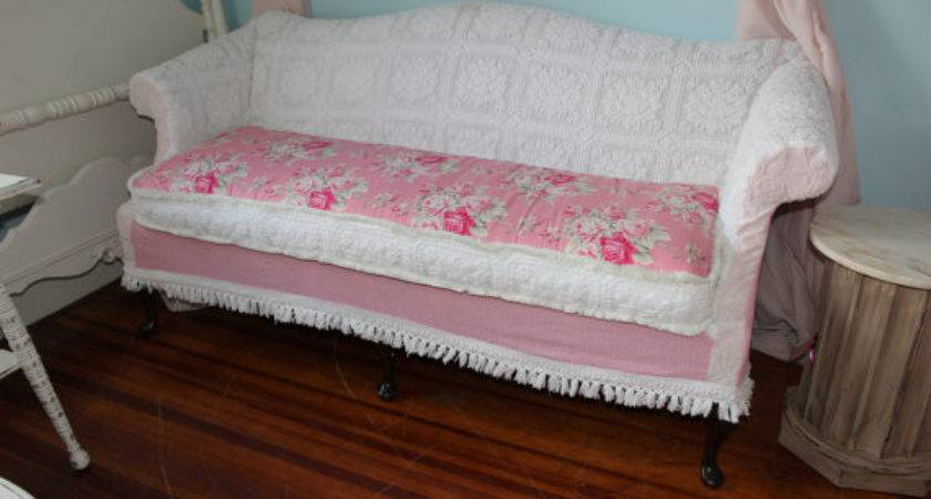 Shabby Chic Sofa Couch Slipcover Chenille