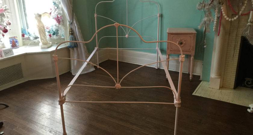 Shabby Chic Twin Bed Frame Cast Iron Pink