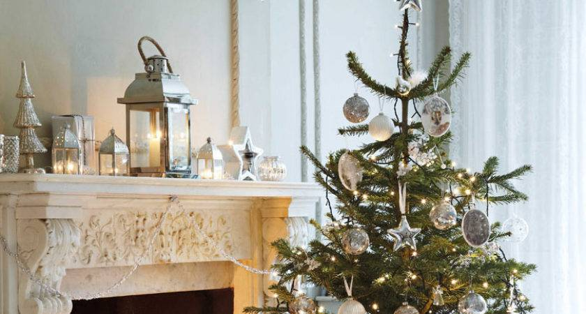 Shimmering Gold Silver Decorations Festive Factor
