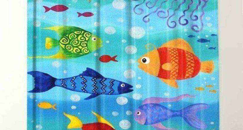 Shower Curtains Fish Theme Desain