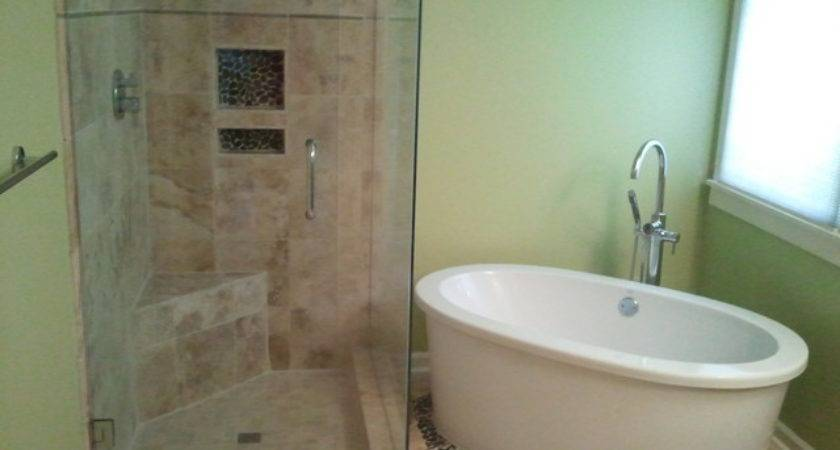 Shower Stand Alone Tub
