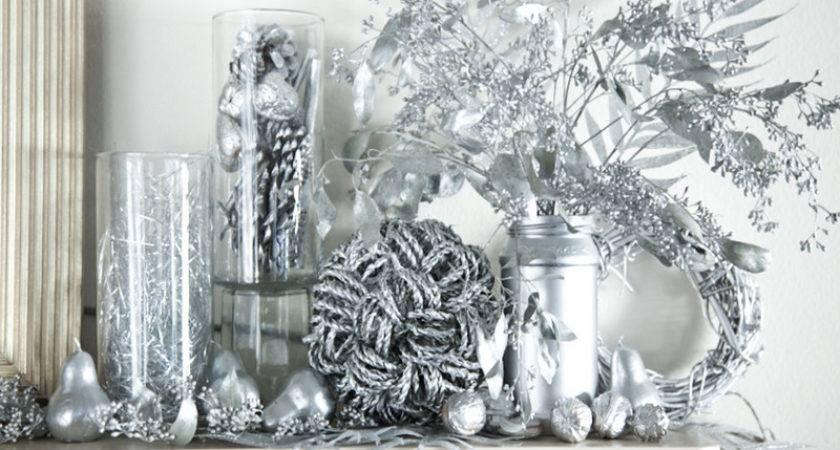 Silver Christmas Table Decorations Plant Decoration