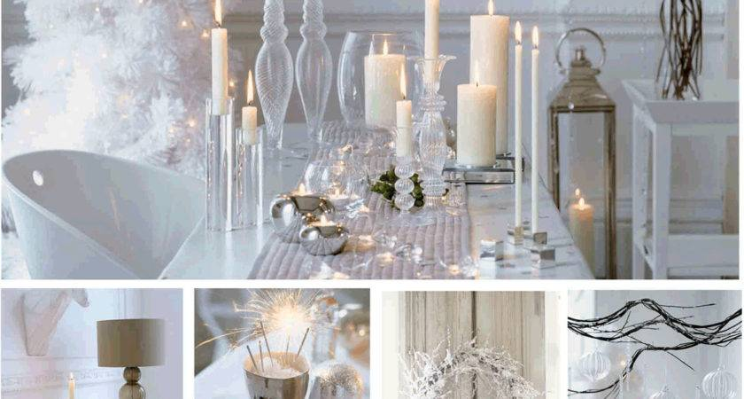 Silver Christmas Tables Sets Winter