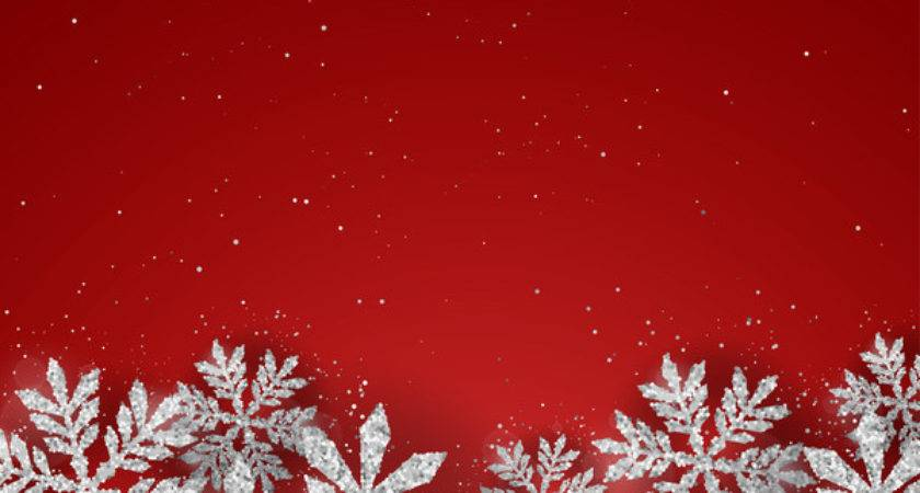 Silver Snowflakes Red Christmas Vector